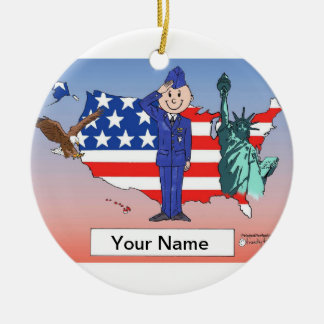 US Air Force - Male Ceramic Ornament
