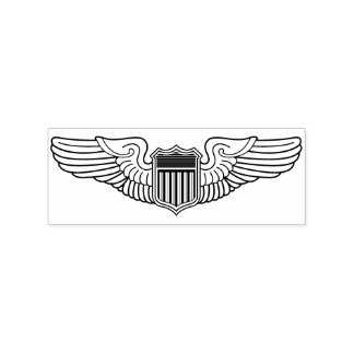 US Air Force Pilot Wings Crafting Rubber Stamp