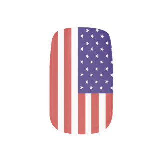 US America Flag Minx Nail Art