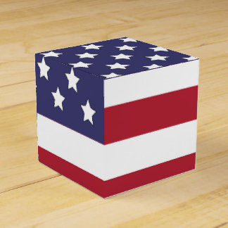 US American Flag Favor Box