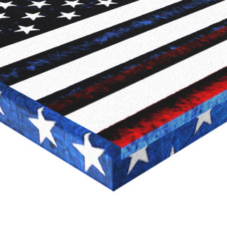US American Flag Patriotic Red White Blue Wall Art