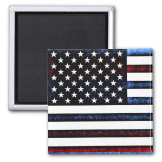 US American Flag Patriotism Postage Magnet