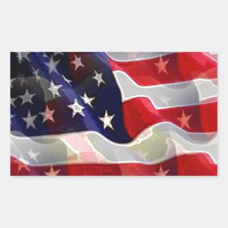 US American Flag Sticker