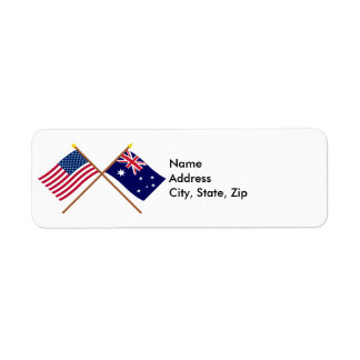 US and Australia Crossed Flags