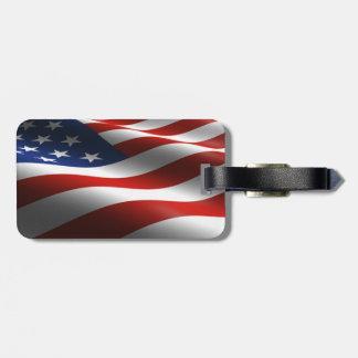 US and Maryland Flag Luggage Tag