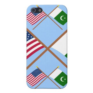 US and Pakistan Crossed Flags Covers For iPhone 5
