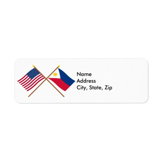 US and Philippines Crossed Flags