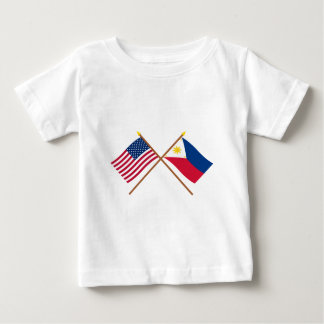 US and Philippines Crossed Flags Baby T-Shirt