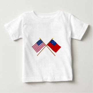 US and Samoa Crossed Flags Baby T-Shirt