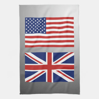 US and UK Flags Hand Towel