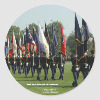 US Army 3d Infantry Regiment - The Old Guard Round Sticker