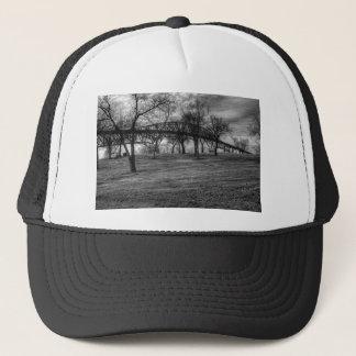 US, Bridge  on Port Arthur, TX. Black and White. Trucker Hat