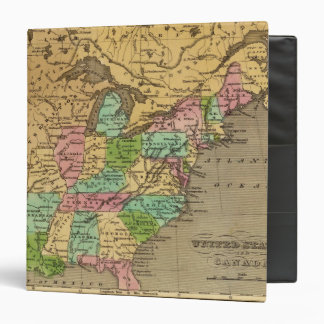 US, Canada Hand Colored Atlas Map Binders