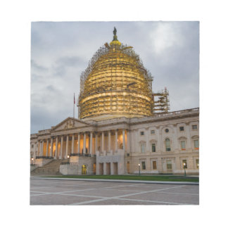 US Capitol Building at Dusk Notepad