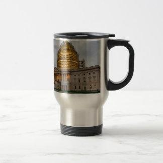 US Capitol Building at Dusk Travel Mug