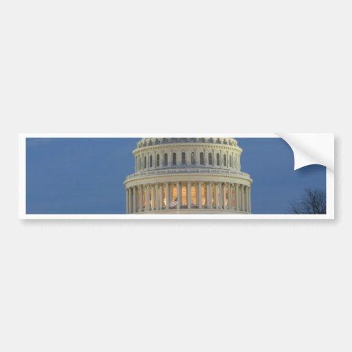 US Capitol celebrating Christmas photo Bumper Sticker