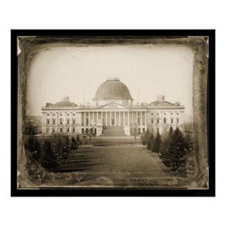 US Capitol DC Daguerreotype 1846 Poster