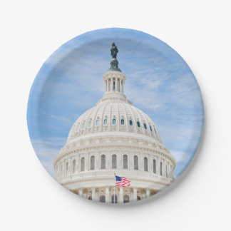 US Capitol Dome 7 Inch Paper Plate