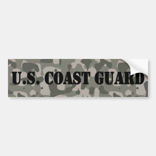 US Coast Guard Camo Bumper Sticker