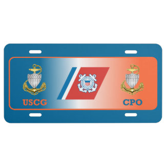 US Coast Guard Chief Petty Officer License Plate