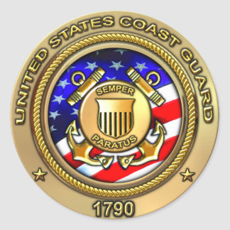 US Coast Guard Round Sticker