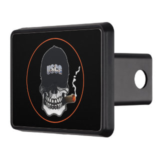 US Coast Guard Skull Shield Trailer Hitch Cover