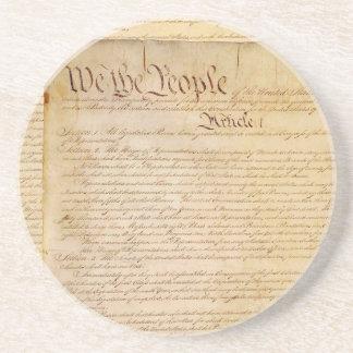 US CONSTITUTION BEVERAGE COASTERS