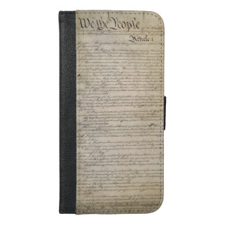 US Constitution iPhone 6/6s Plus Wallet Case