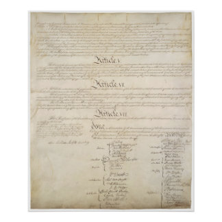 US. Constitution Page 4 Poster