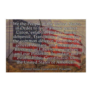 US Constitution Preamble Over Textured Background Acrylic Print