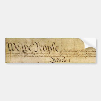 US Constitutional Freedoms - Know Your Rights! Bumper Sticker