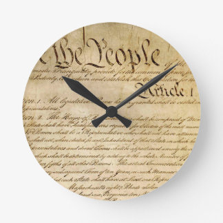 US Constitutional Freedoms - Know Your Rights! Round Clock