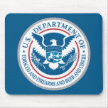 US Department of Tobacco and Firearms and Beer Mousepad
