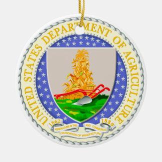 US Dept Of Agriculture Seal Ceramic Ornament
