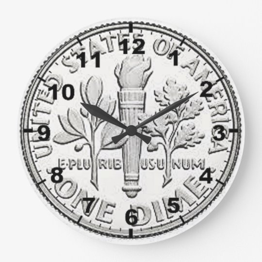 """US Dime"" coin design wall clocks"