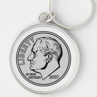 US Dime Ten Cents Keychain