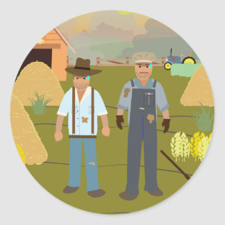 US Dustbowl (Simple History) Round Sticker
