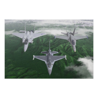 US Fighter Trio Poster