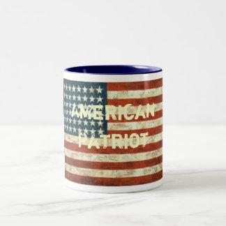 US Flag4, American , Patriot Two-Tone Mug