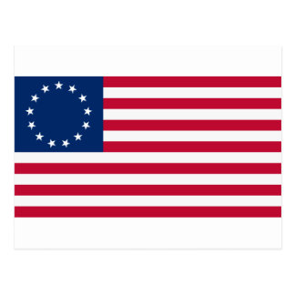 US flag 13 stars Betsy Ross Postcard