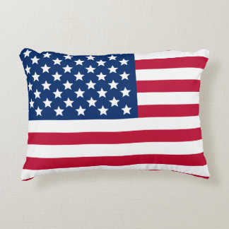 US Flag Accent Pillow