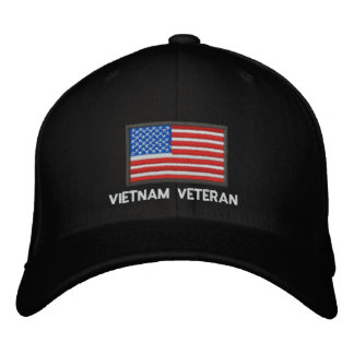 US Flag - America - Vietnam Veteran Embroidered Baseball Cap