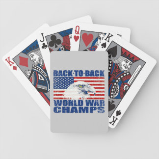 US Flag And American Eagle World War Champs Bicycle Playing Cards