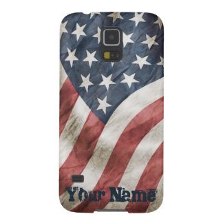 US Flag and Name Vintage Retro Old Glory Galaxy S5 Case