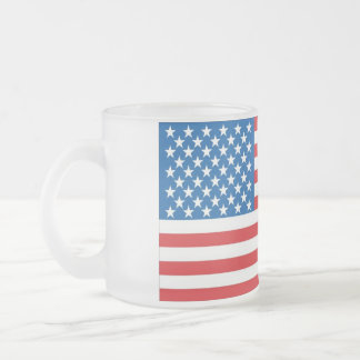 us flag big frosted glass coffee mug