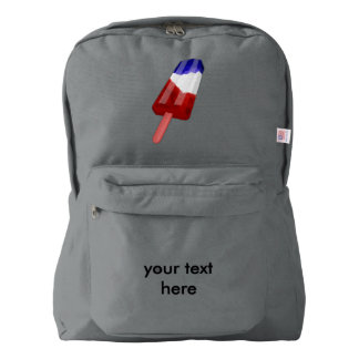 US Flag Colored Popsicle Water Color Backpack