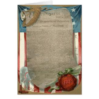 US Flag Declaration of Independence 1776 Card