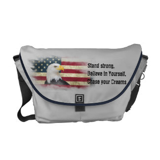 US Flag / Eagle. Stand strong, believe in yourself Messenger Bag