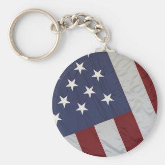 US Flag Keychain
