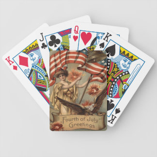 US Flag Lady Liberty Fireworks Firecracker Bicycle Playing Cards
